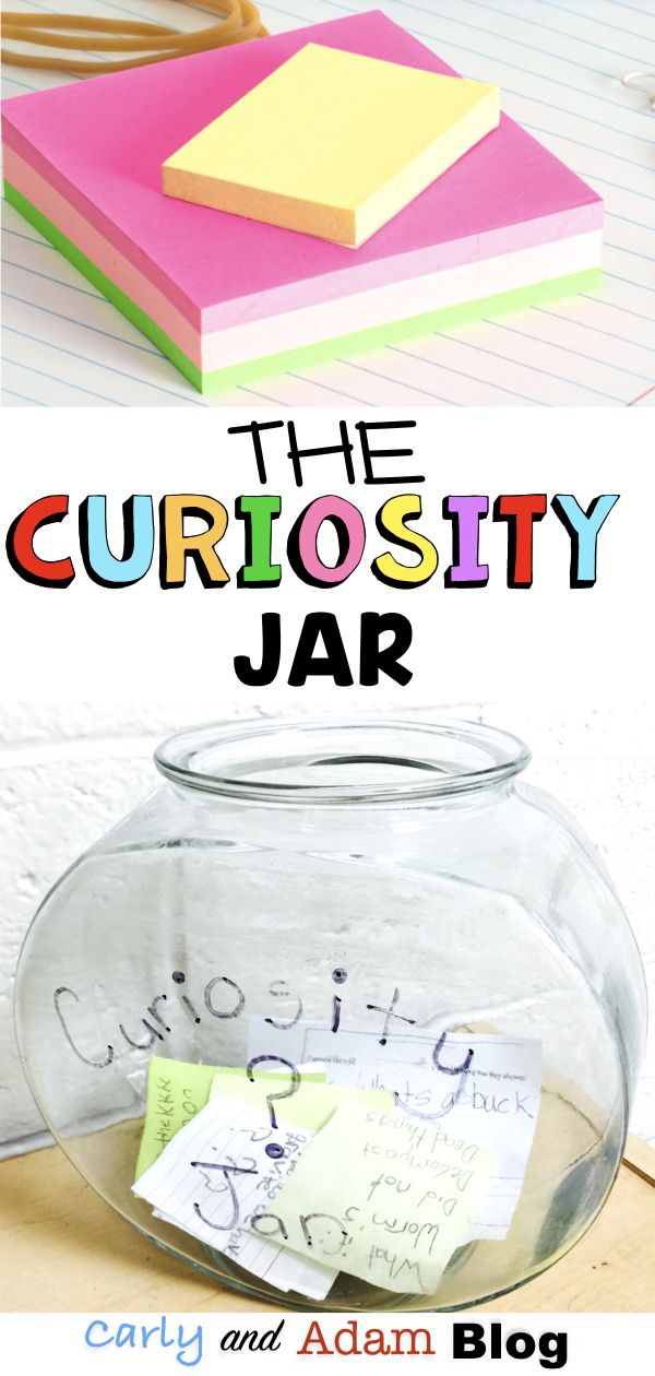 Increase Student Curiosity with the Curiosity Jar: As a teacher I love it when my students are using their curiosity and asking good questions. The curiosity jar validates the questions that students ask, provides time for necessary research, and saves valuable lesson time! You can even put the ownership on the students by allowing them to look up answers to their own questions or make it a classroom job. #curiosity #classroommanagement