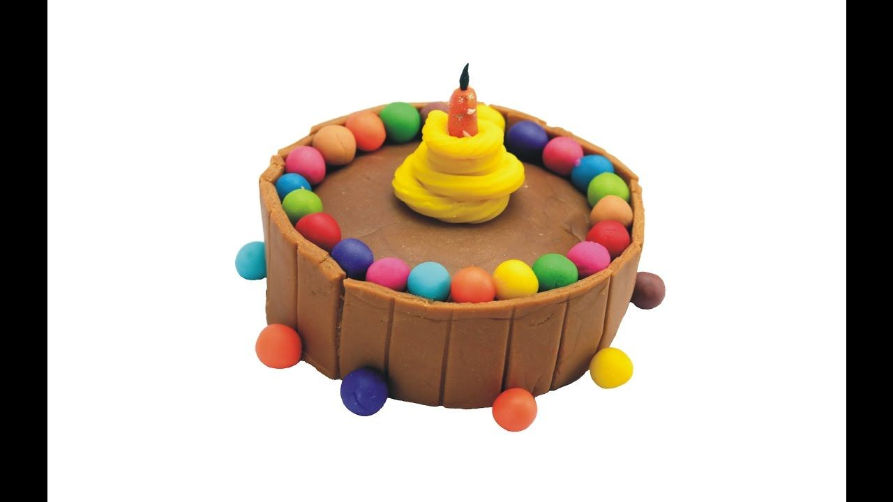 Delicious Play Dough Birthday Chocolate Cake With Colorful Balls