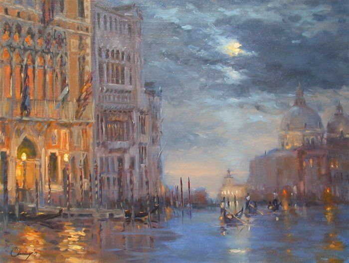 Moon Oil Paintings | ... com 18x24 oil on linen tags impressionism moonlight oil painting