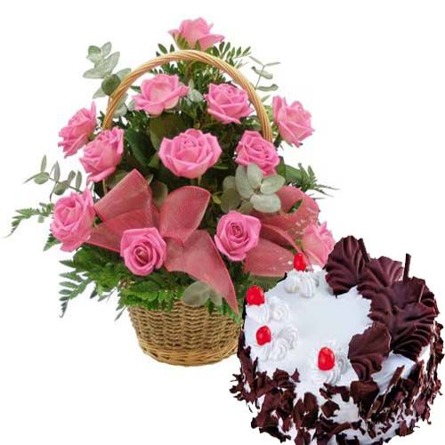 Send Birthday Flowers And Cakes Online At Ludhiana Florist