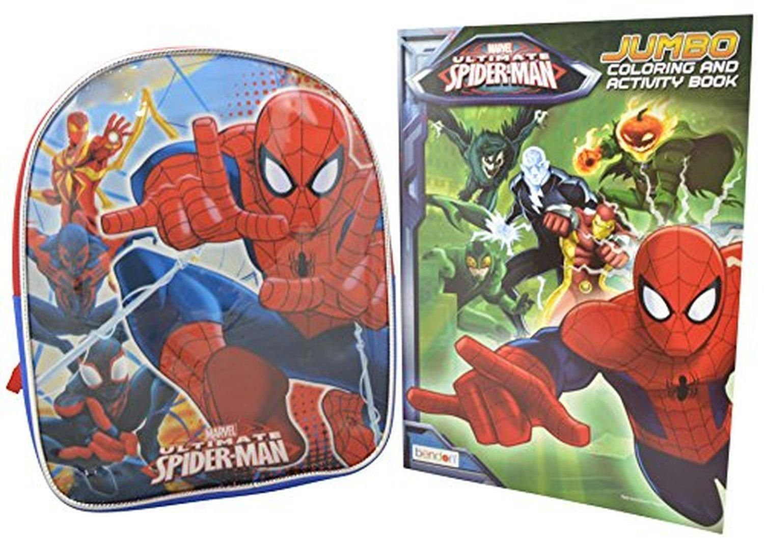 Marvel Spiderman Set Of 10 Toddler Backpack Spiderman Coloring Book Brought To You By Avarsha Com Spiderman Coloring Marvel Spiderman Spiderman