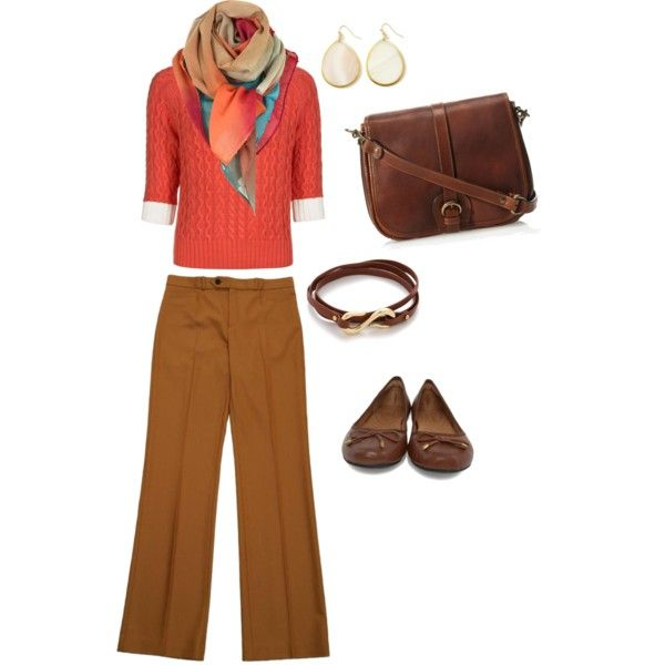 """autumn browns"" by mmaples on Polyvore"