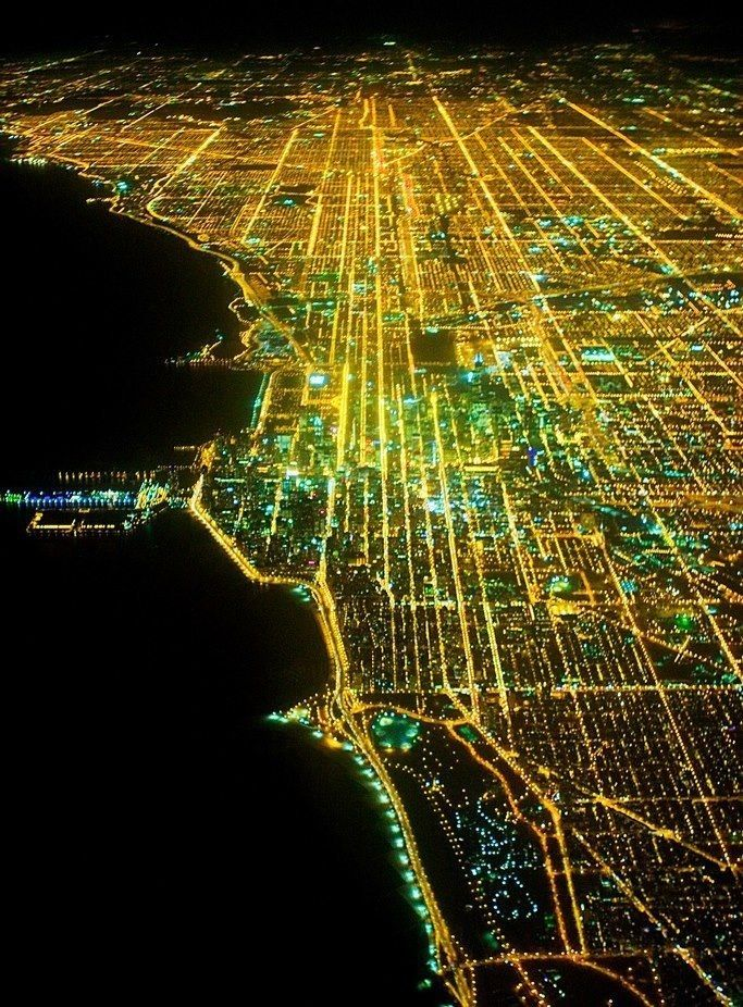 Chicago Map Grid%0A Hi friends i am sharing some wonderful and amazing images of Chicago Night  Views  Chicago is beautiful city specially at night looks like F