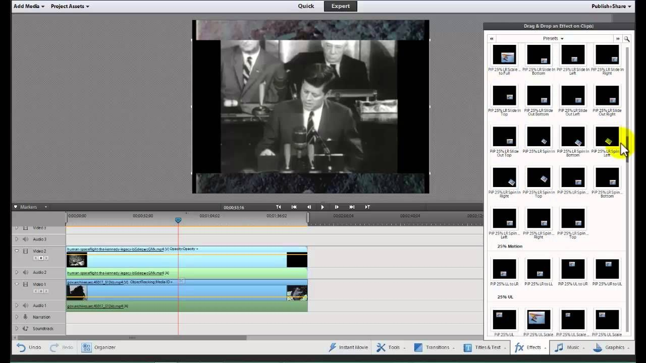 Create A Picture In Picture Pip Video In Adobe Premiere Elements 11 Video Youtube Art Videos