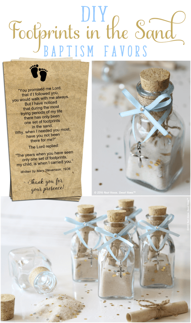 'Footprints in the Sand' DIY Baptism Favors • Neat