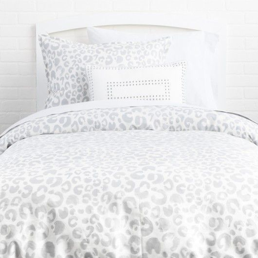 Snow Leopard Duvet Cover And Sham Set Twin Twin Xl Leopard Print Bedding Leopard Print Bedroom Duvet Cover Sets