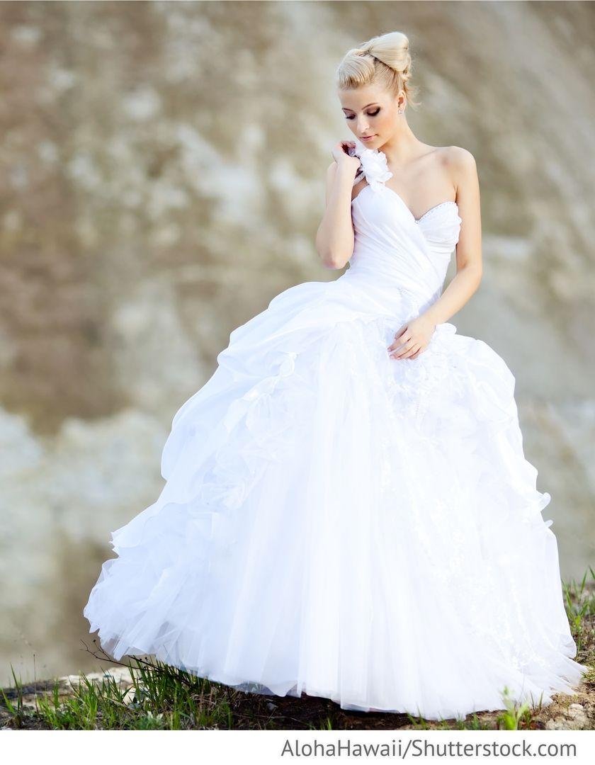 Hochzeitskleid weiß schulterfrei für Hochzeit  Hochzeitskleid
