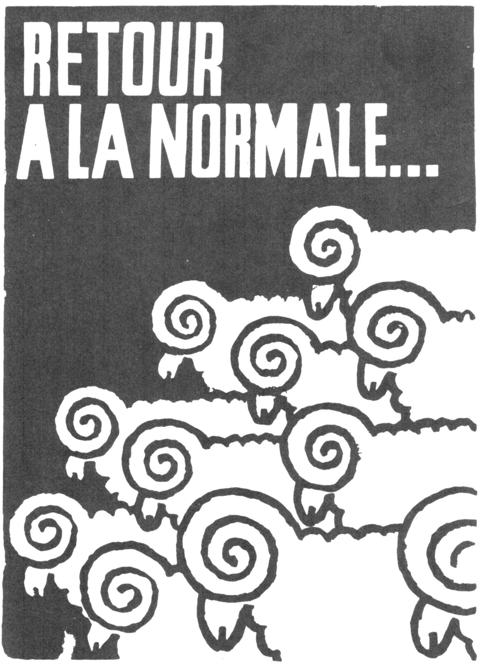 L'Atelier Populaire, 1968. Retour à la Normale