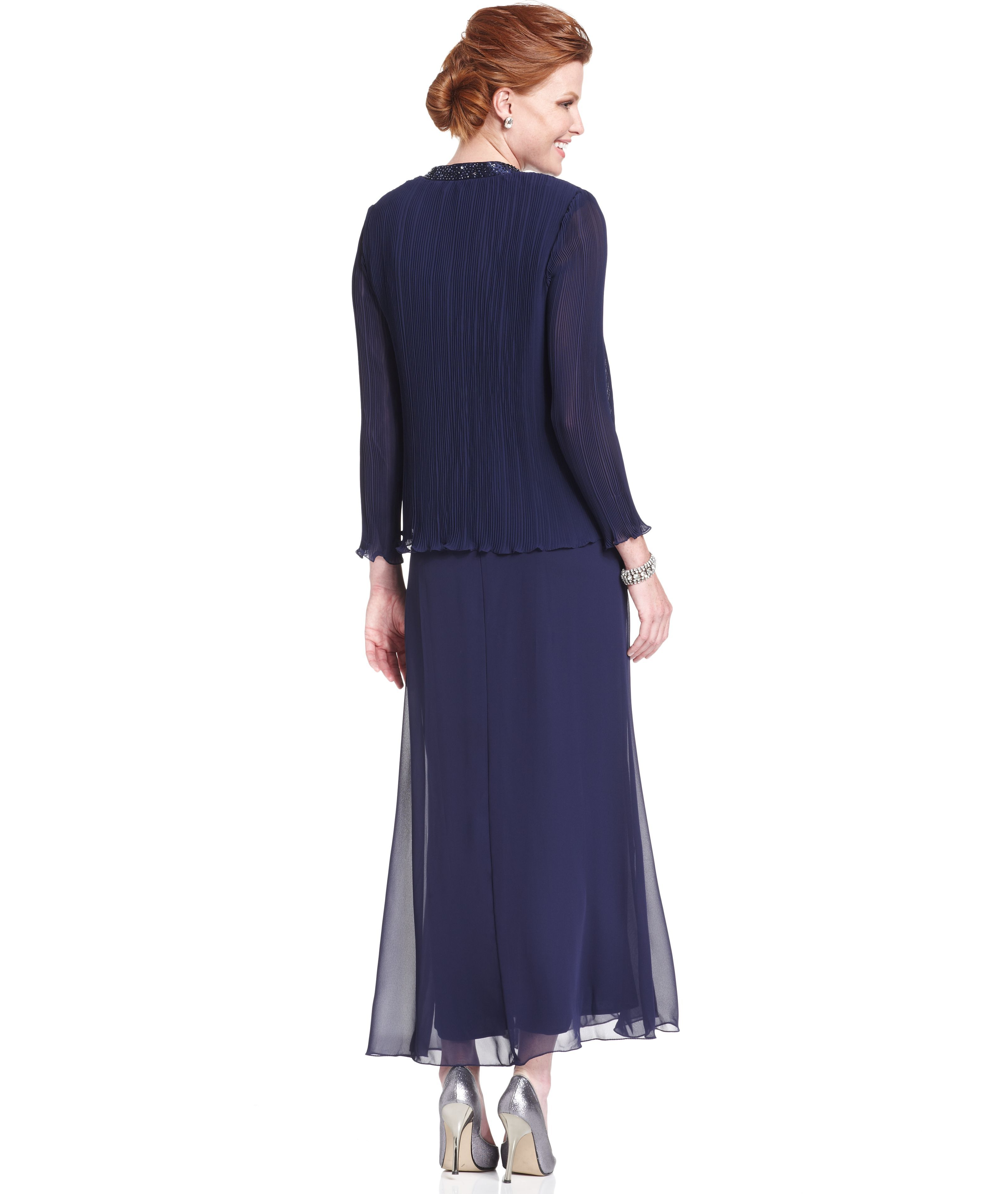 b4a3ea07093 Macys R M Richards Sleeveless Beaded V-Neck Dress and Jacket ---- Jennifer  McDonough