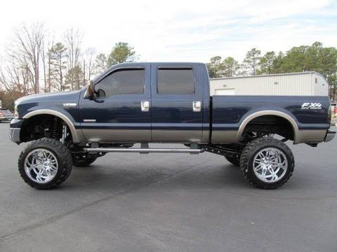 2005 Ford F 350 Super Duty Diesel Lariat Lifted Truck For Sale