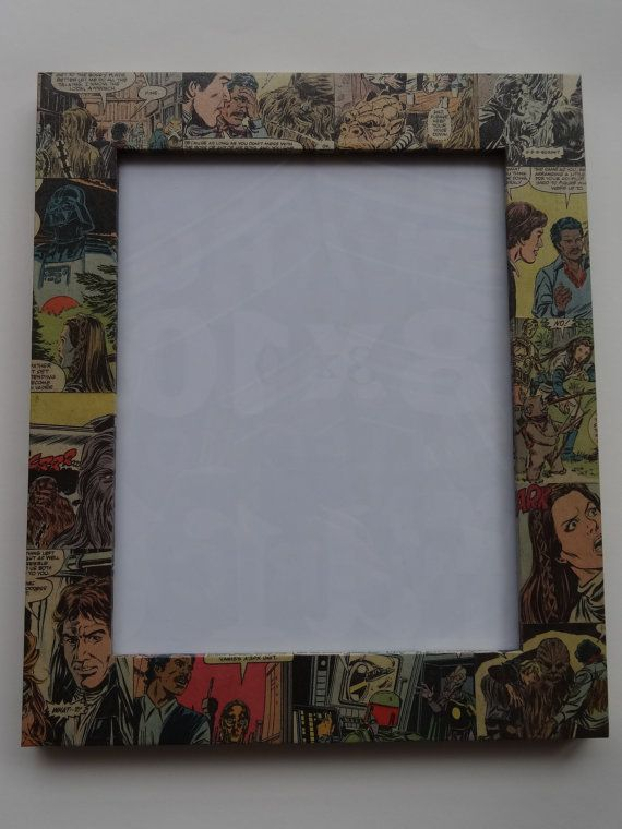 Star Wars Decoupaged 8x10 Picture Frame By Raditup On Etsy 25 00 8x10 Picture Frames Star Wars Awesome Picture Frames