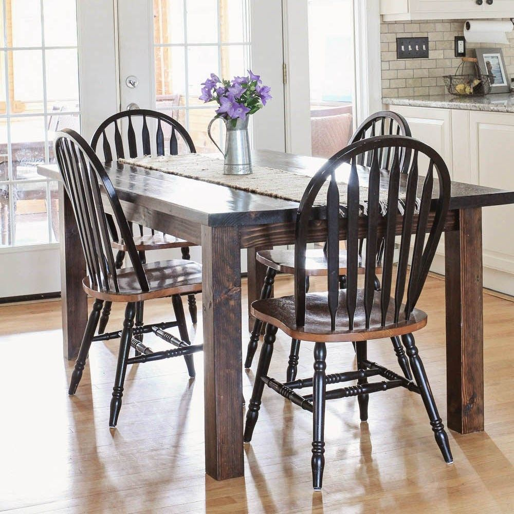 farmhouse table diy with removable legs projects pinterest rh pinterest com