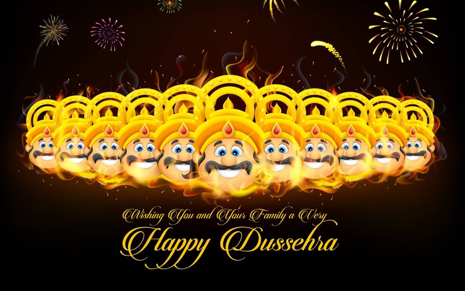Wishing you and your family a very happy dussehra 2016 wallpaper happy dussehra ravan dahan vijay dashami 2015 wishes pics photos videos kristyandbryce Choice Image