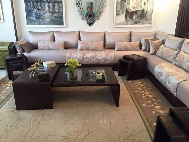 Sedari lyon salons marocaine moderne avec table sedari for Salon marocain a lyon