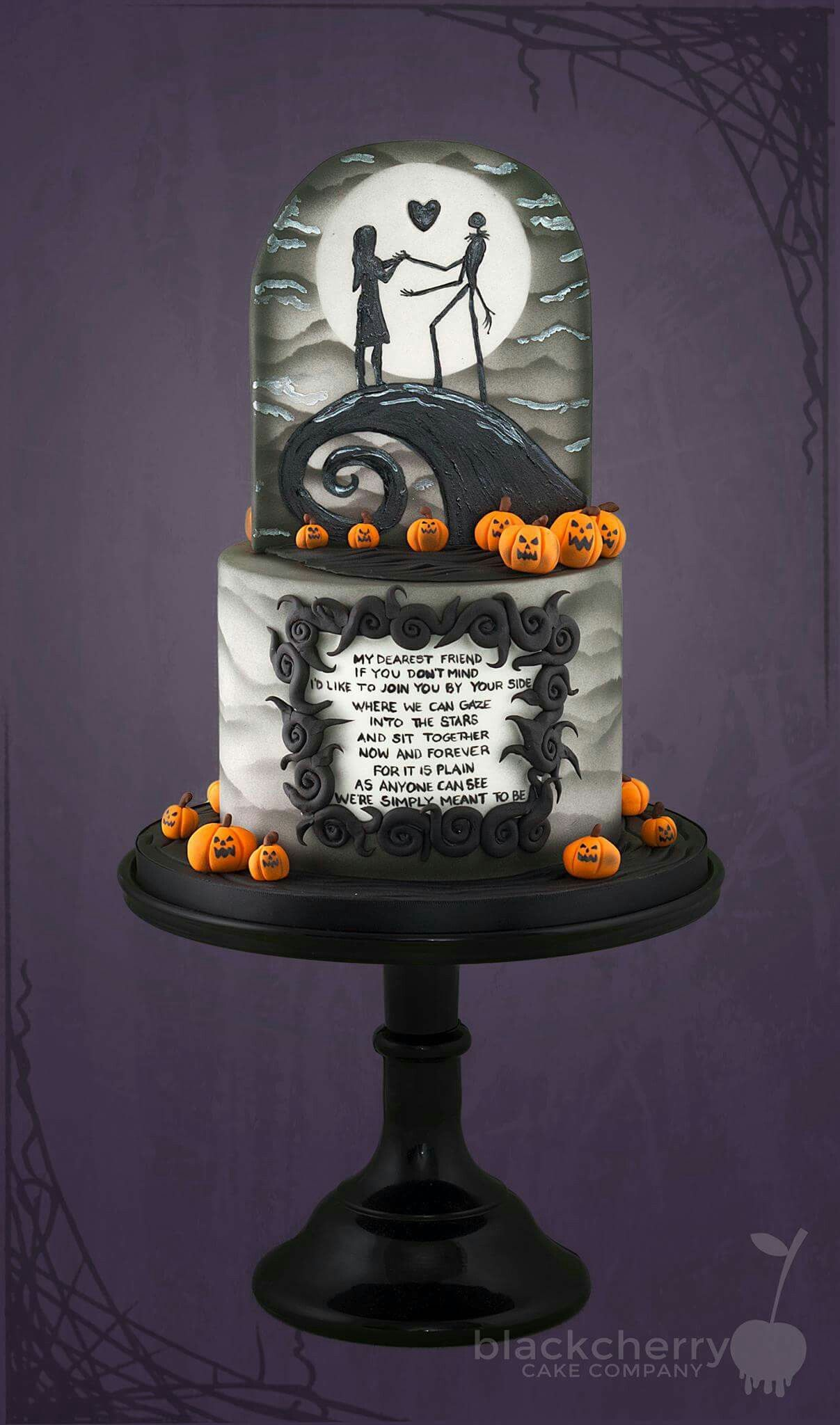 Halloween Engagement Wedding Cake