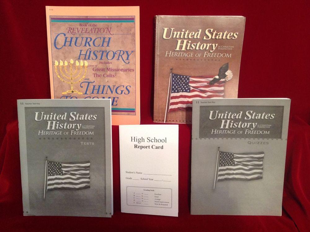 Abeka United States History Student Quiztest Keys Heritage Of