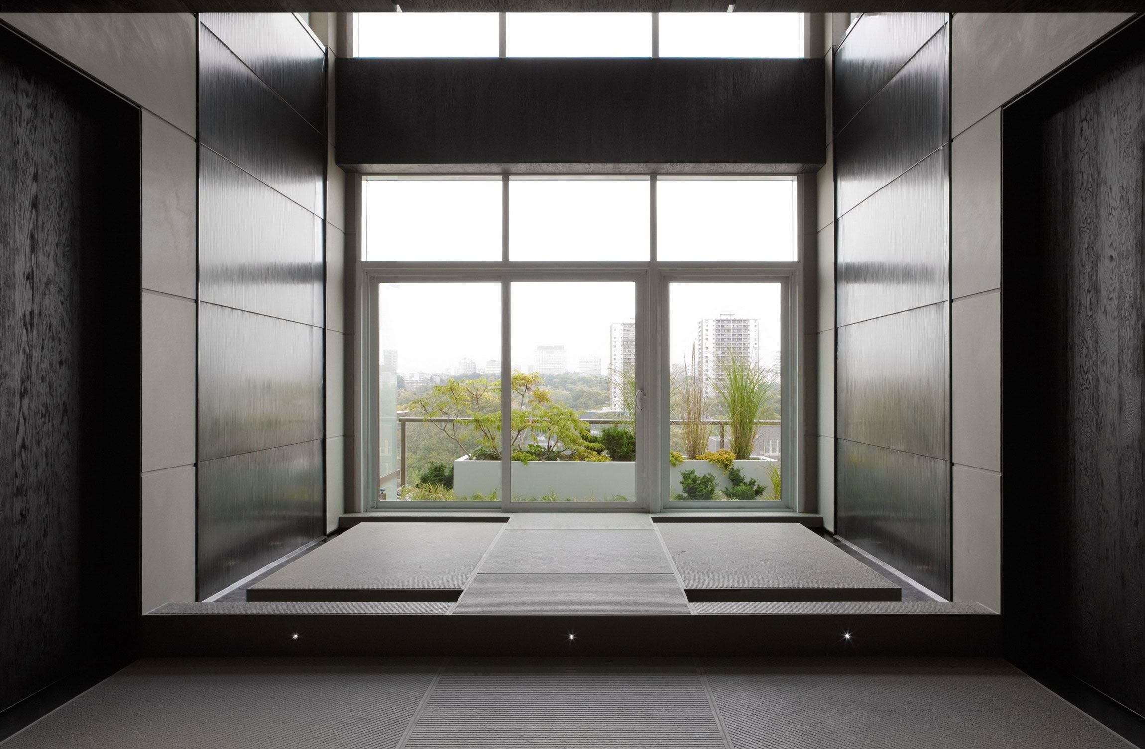 home yoga room modern penthouse design with black home yoga room modern penthouse design with black and grey interior