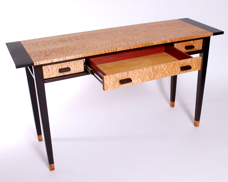writing desk wenge quilted maple purpleheart spalted birdseye rh pinterest com
