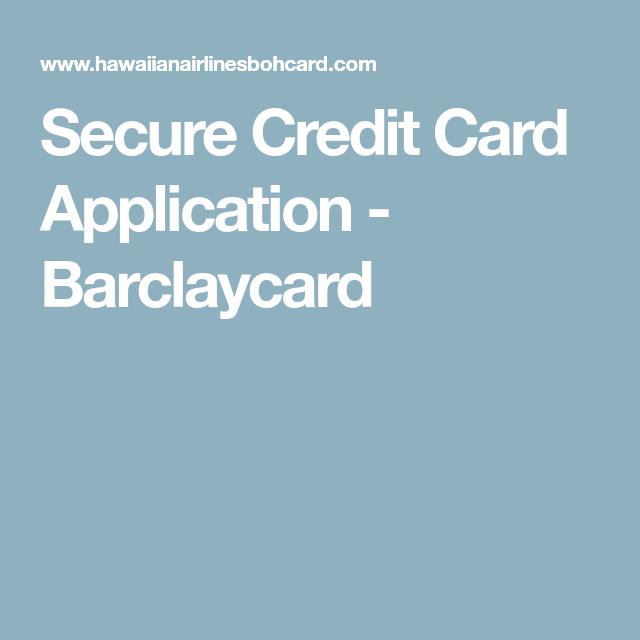 Secure Credit Card Application - Barclaycard