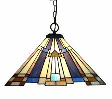 mission arts crafts tiffany style stained glass ceiling pendant rh pinterest com
