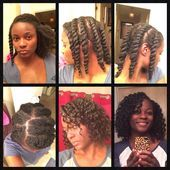 Natural Hair Twist out Flat twist