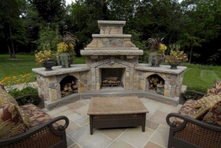 30 diy outdoor hearth and fire pit ideas home design outdoor rh pinterest com