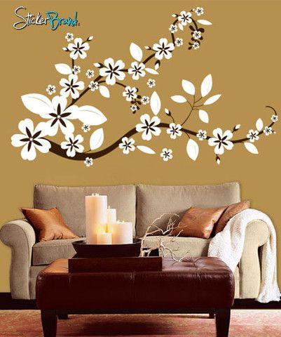 Vinyl Wall Decal Sticker Flower Floral Asian Blossom 284 Vinyl Wall Decals Asian Decor Wall Decals