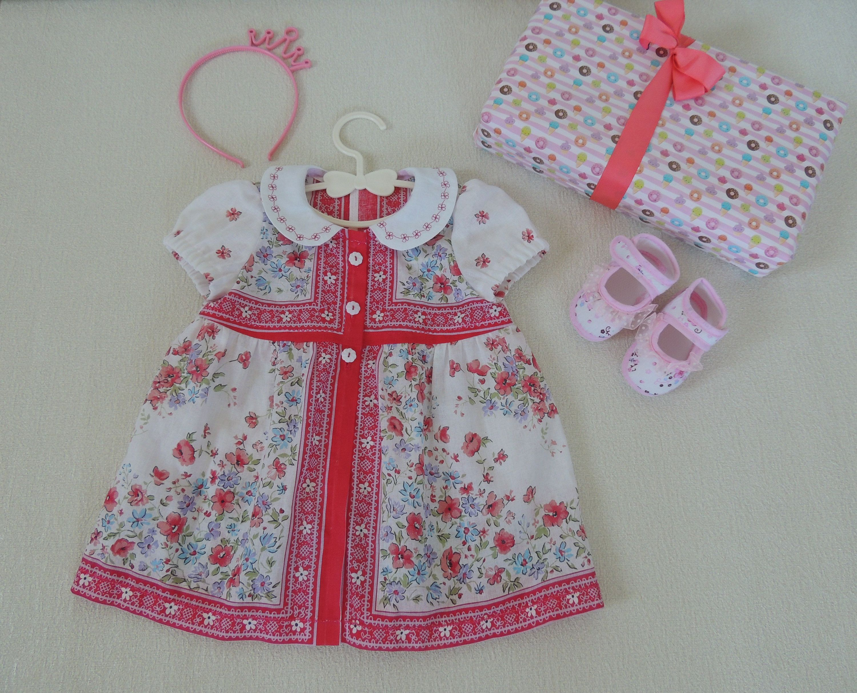 Girls Floral Dress Fabric Shoes  Birthday Dress floral by MarViry on Etsy