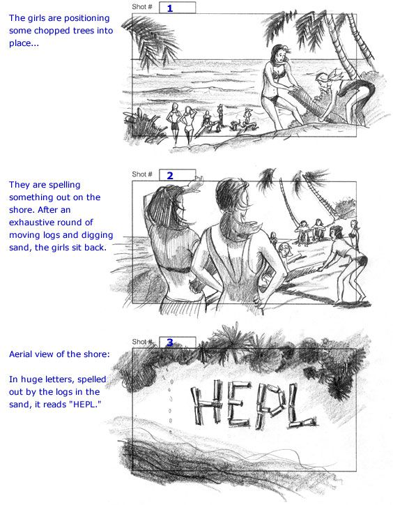 Storyboard Project Miss Cast Away  Cuong Huynh  Storyboards