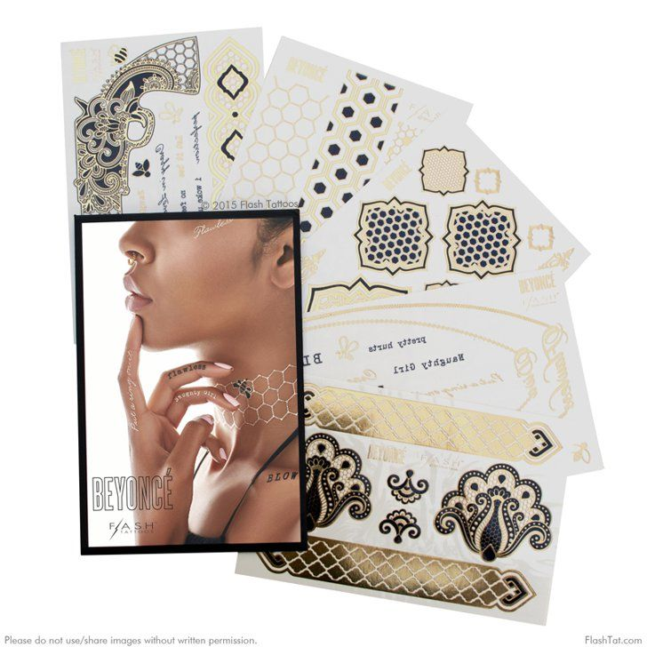 Pin for Later: 20 Flawless Gifts For Beyoncé Fans Flash Tattoos Beyoncé x Flash Tattoo Set ($28)