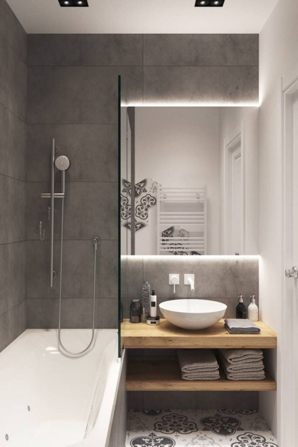 30 Enchanting Shower Decor Ideas For Tiny Bathroom Trenduhome In 2020 Small Bathroom Decor Small Bathroom Small Bathroom Makeover