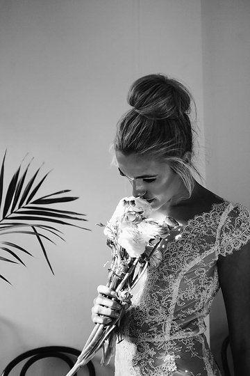 Sneak peek //   Gowns: 2017 KAREN WILLIS HOLMES  Photographer: Sophie Thompson Photography Styling: Maison Meadow  Flowers: Oh Flora  MUA: The Makeup Society Hair: Mumma Bears Hair Salon Model: Jemma Barge from Wink Models  Hire: Ashdown & Bee