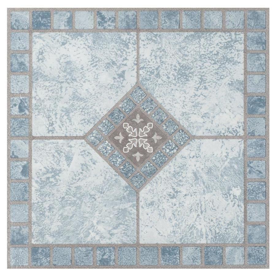 Achim Portfolio 9Piece 12in x 12in Blue Diamond Peel