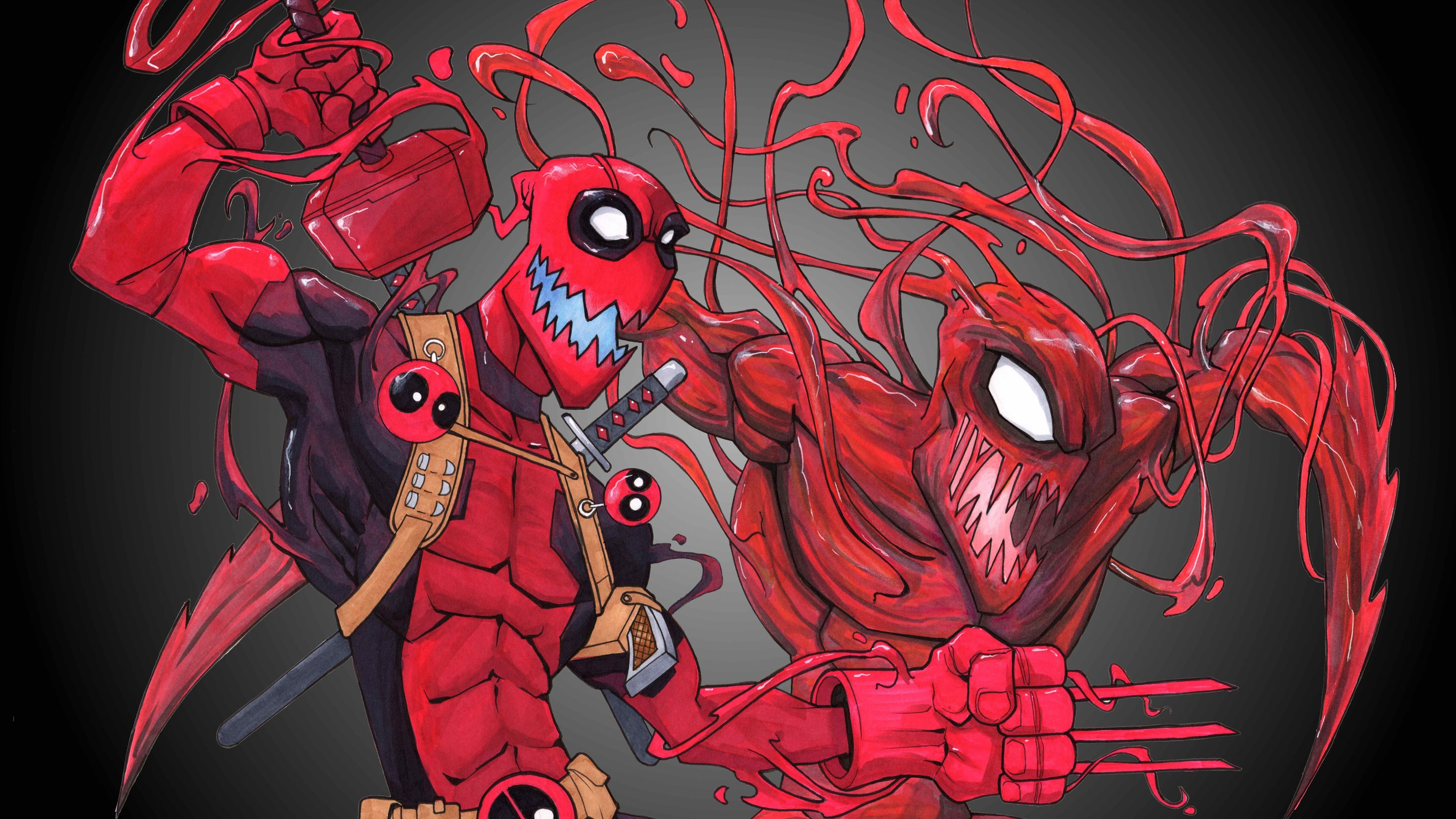 Deadpool Carnage 4k Superheroes Wallpapers Hd Wallpapers Digital Art Wallpapers Deadpool Wallpapers Carnage Deadpool Wallpaper Deadpool Poster 8k Wallpaper