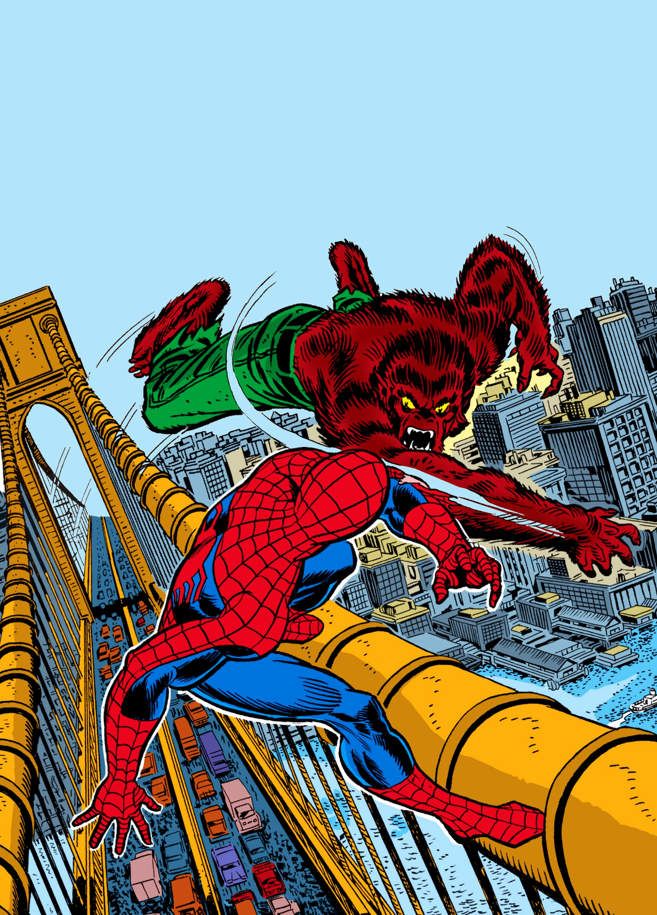 spider man vs werewolf by night art by gil kane spider man vs