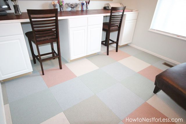 how to install flor carpet tiles craft room makeover home office rh pinterest com