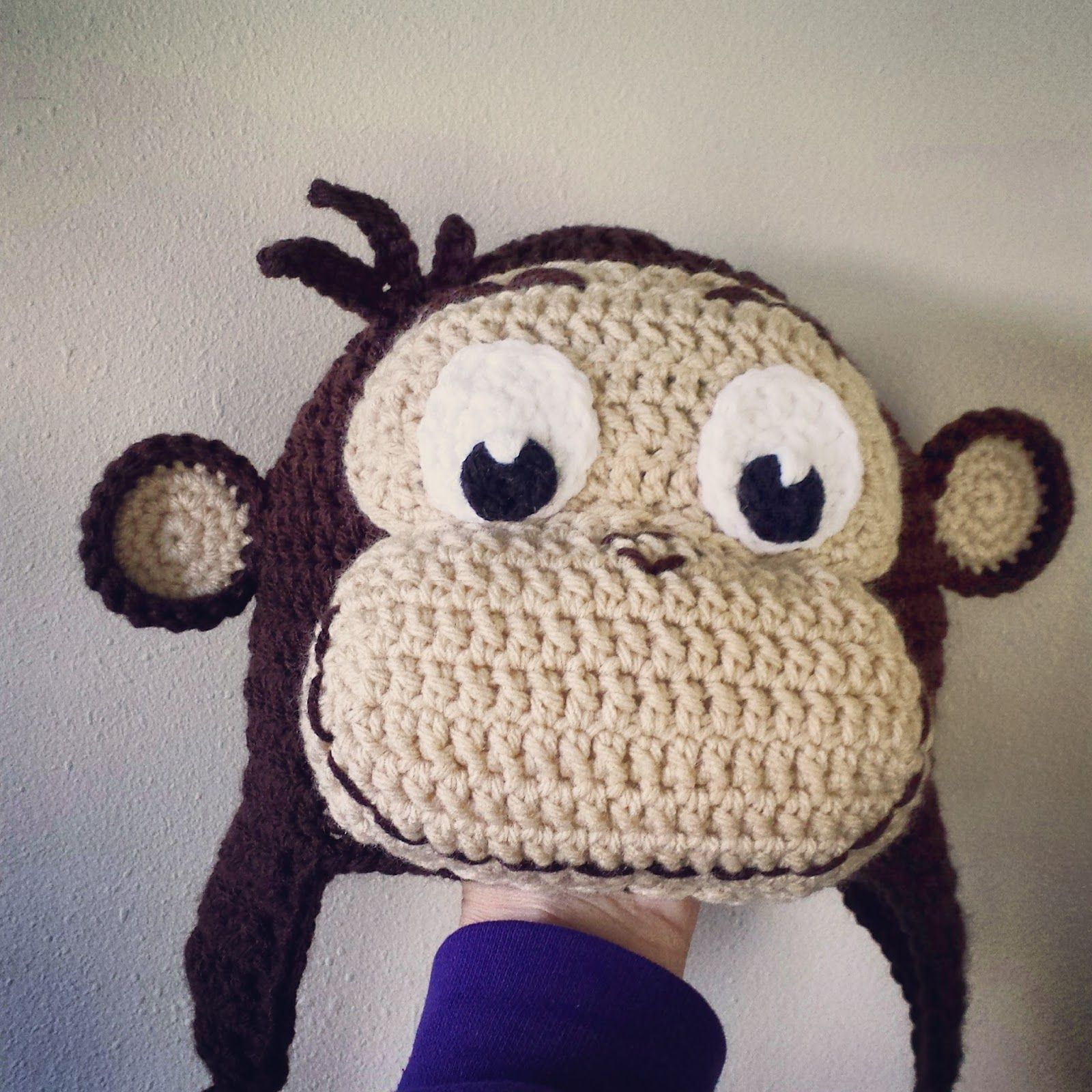 Free Crochet Patterns Monkey Hat : Lovebugs and Monkeys: Crochet Curious George Hat *Free ...