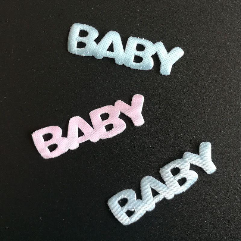 50PCS BABY Letters Applique baby shower decoration