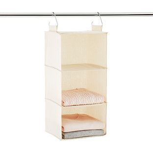 3 compartment natural canvas hanging sweater organizer in 2019 rh pinterest com