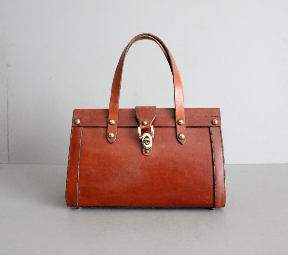 We Are Handsome Pre-owned - LEATHER HAND BAG 7VaBYOgSEj