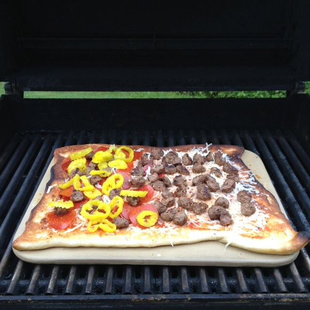 Grilling Pizza.