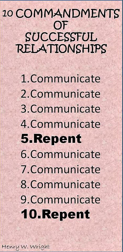 10 Commandments of successful relationships in business and - ten resume writing commandments