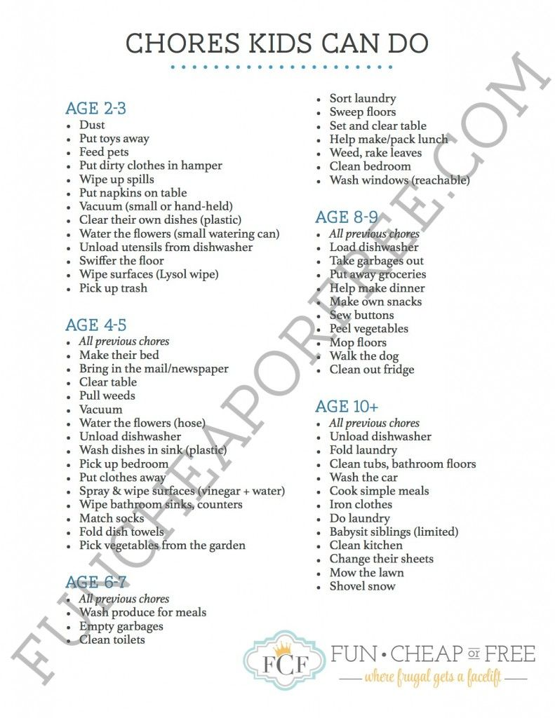 Chores Kids Can Do, By Age  Parenting Life Savers -1476
