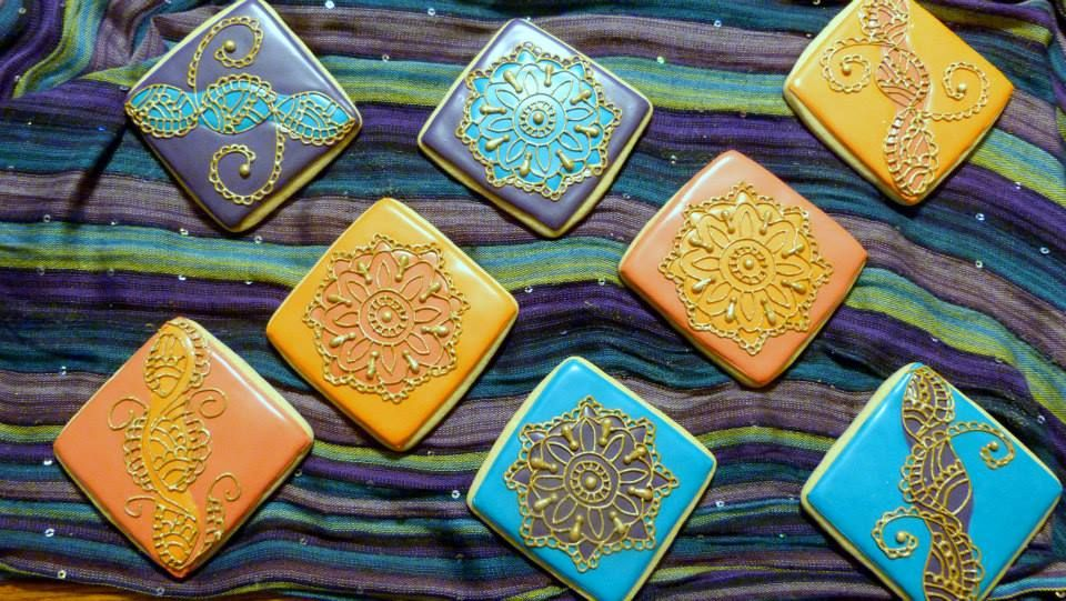 Inspired by India--henna cookies