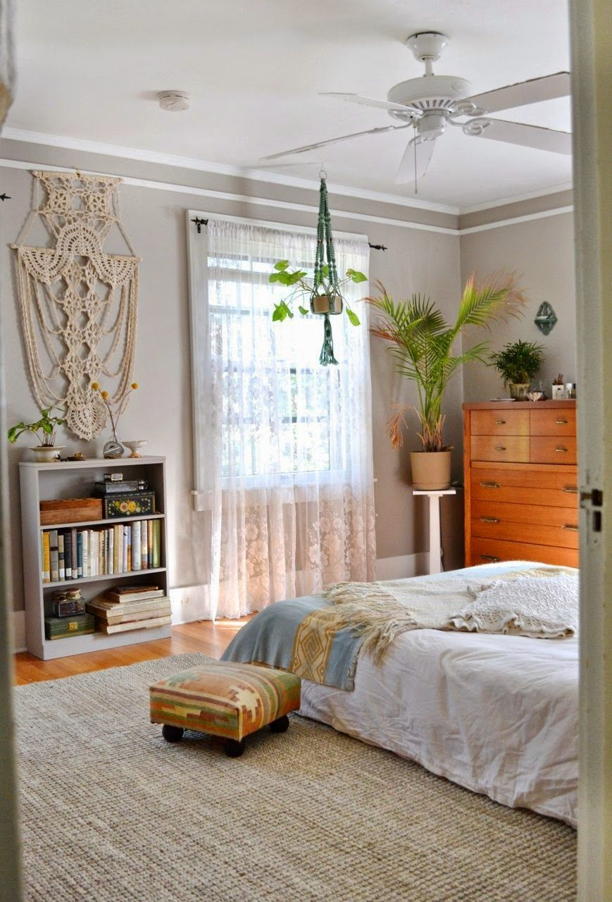 dream master bedroom%0A Macrame Planter Beautiful light and airy Master bedroom Mid century Modern  hanging planter Guest