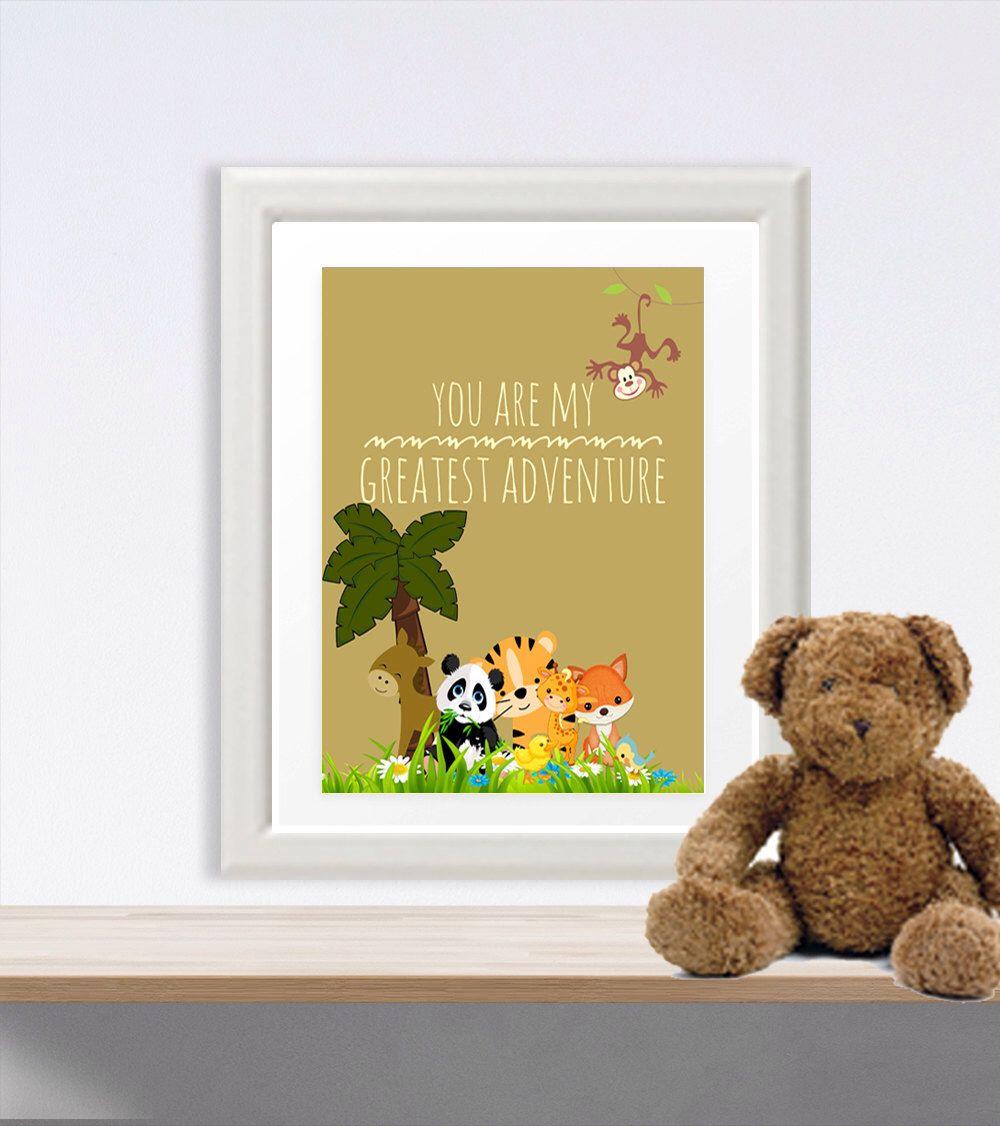 Nursery printable Zoo Safari Print Quote Print you are my greatest ...