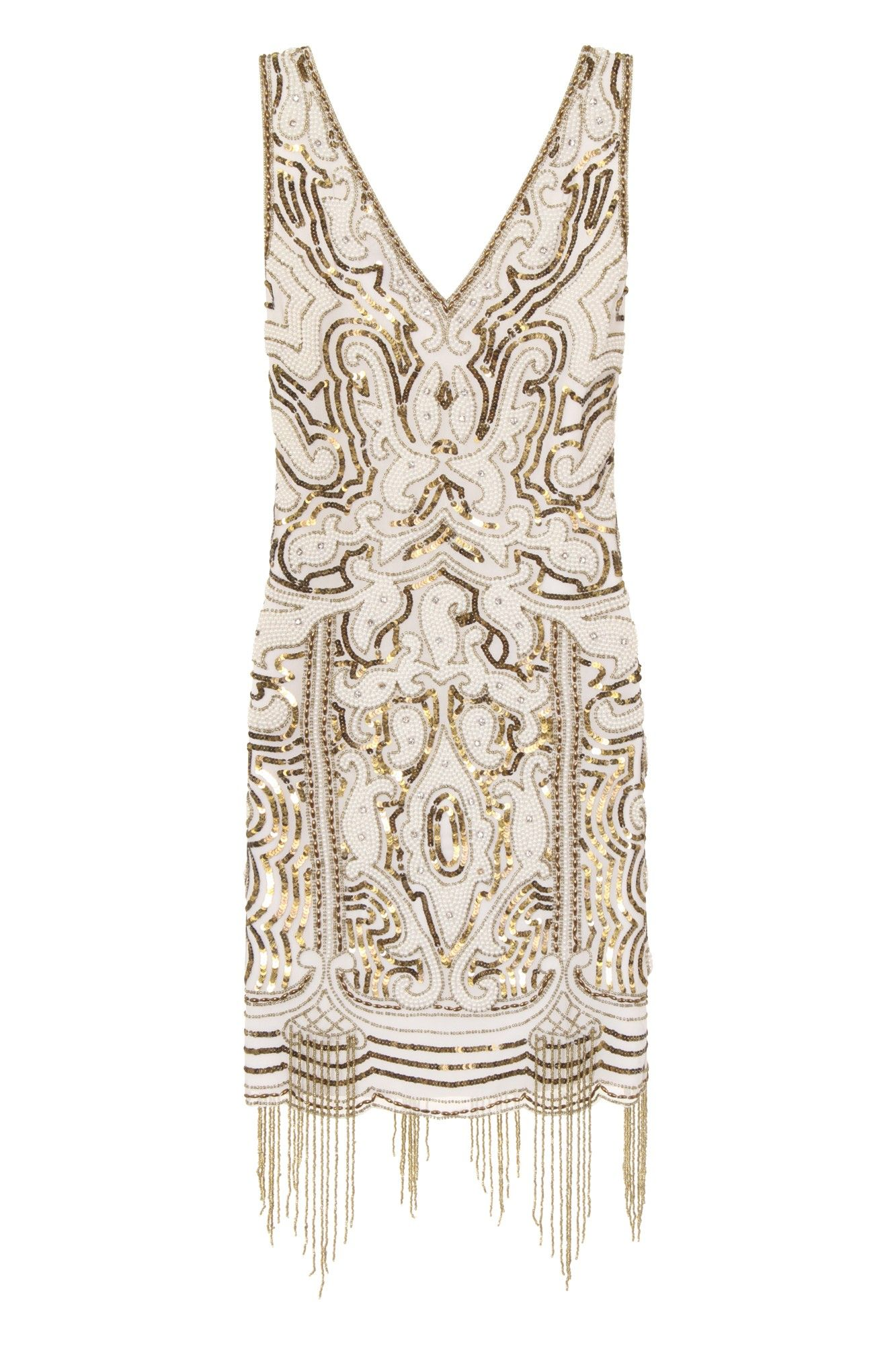 Frock and Frill Yakira Embellished Dress With Fringing