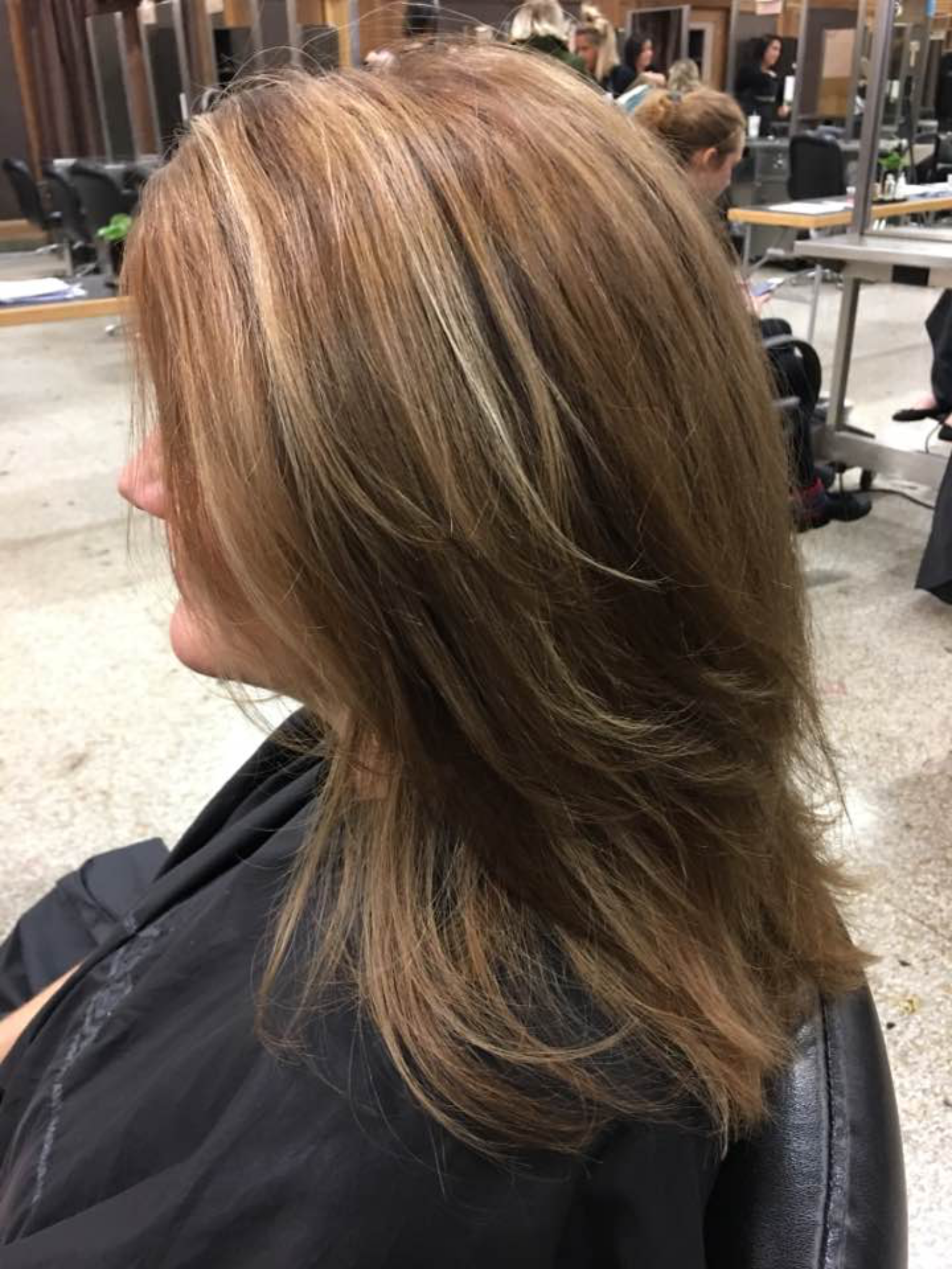 Thin Slice Highlights And Lowlight Foils All Aveda Color Highlights