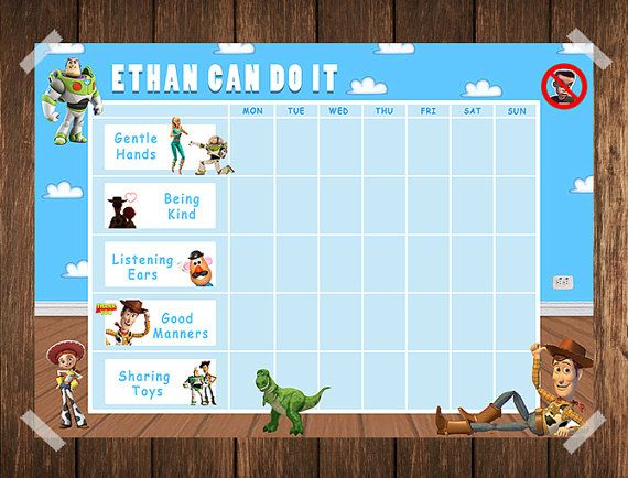 toy story toddler reward chart    behaviour by