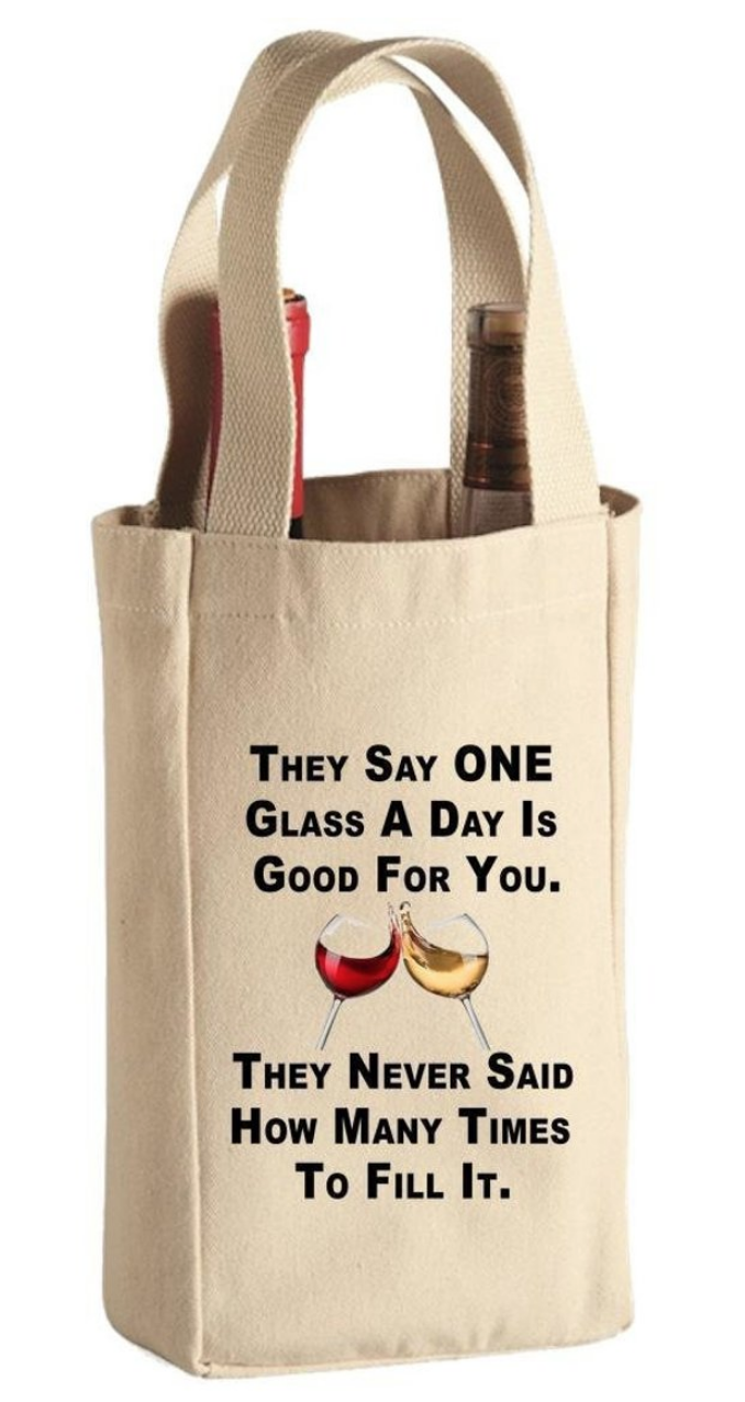 Wine Tote Bag Custom Canvas Gift Personalized Inspirational Red White Wine Gift For Men Women Best Friend In 2020 Wine Tote Bag Canvas Wine Bag Canvas Wine Tote